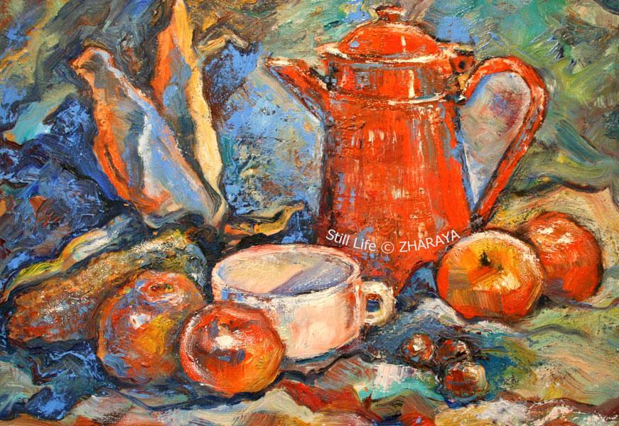 Cafe-d-Automne_Still-Life-oil_ZHARAYA