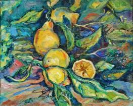 Description: Citrons Branchés Auteur: ZHARAYA Eugéniya