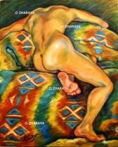 Description: Fatiguee-endormie-sur-le-divan Auteur: ZHARAYA