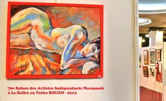 Description: Femme-Flamme_au_Salon-des-Artistes-Independants-Normands-2014_ROUEN Auteur: Eugeniya ZHARAYA
