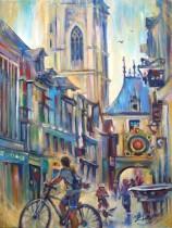 Description: Petits-velos-dans-la-rue-du-Gros-Horloge_Rouen Auteur: Eugeniya Zharaya