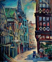 Description: Petite balade dans la rue Damiette Rouen Auteur: Zharaya Eugeniya