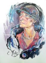 Description: La-dame-au-chapeau Auteur: ZHARAYA