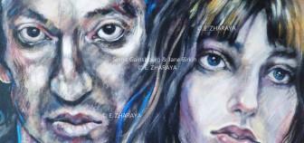 Description: Portrait de Serge Gainsbourg et Jane Birkin Auteur: Zharaya Eugéniya