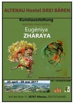 Description: Plakat einer persönlichen Ausstellung ZHARAYA Auteur: