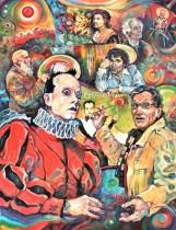Description: Troc de Santas Claudes Auteur: ZHARAYA Eugeniya - Prix du 35ème Salon des Arts - Saint MAURICE (94)
