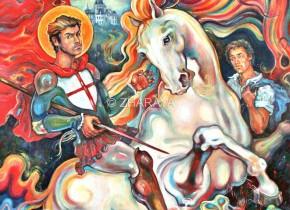 Description: Saint Georges - Vainqueur du Dragon  Auteur: Eugéniya ZHARAYA